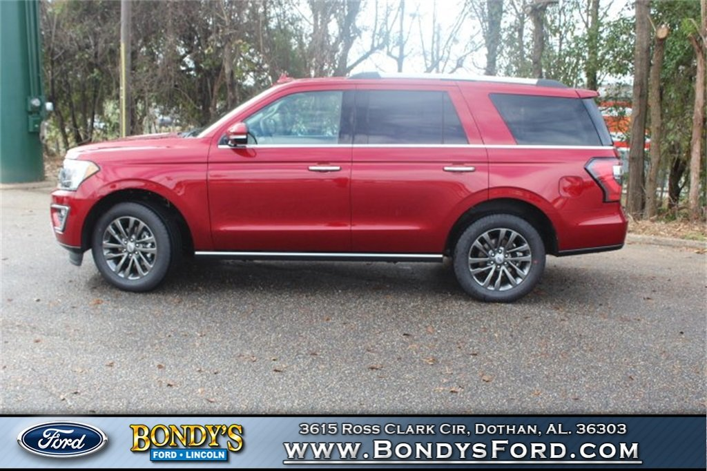 2019 Ruby Red Metallic Tinted Clearcoat Ford Expedition Limited 4 Door SUV EcoBoost 3.5L V6 GTDi DOHC 24V Twin Turbocharged Engine