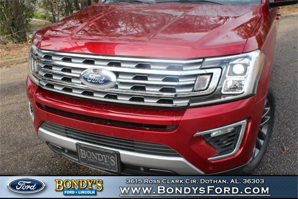 2019 Ruby Red Metallic Tinted Clearcoat Ford Expedition Limited RWD EcoBoost 3.5L V6 GTDi DOHC 24V Twin Turbocharged Engine SUV