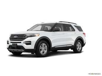 2020 Oxford White Ford Explorer XLT SUV Automatic 4 Door RWD