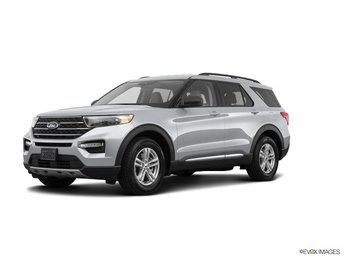 2020 Silver Metallic Ford Explorer XLT 4 Door SUV RWD Automatic EcoBoost 2.3L I4 GTDi DOHC Turbocharged VCT Engine
