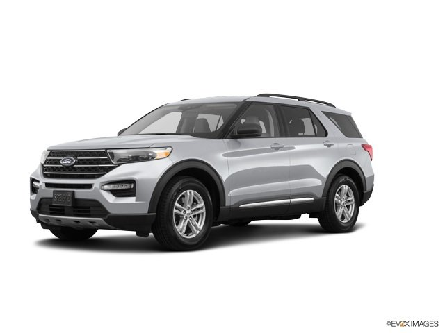 2020 Silver Metallic Ford Explorer XLT RWD 4 Door SUV Automatic EcoBoost 2.3L I4 GTDi DOHC Turbocharged VCT Engine