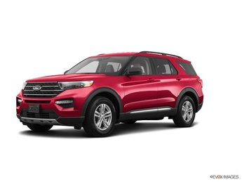 2020 Red Metallic Ford Explorer XLT 4 Door Automatic SUV EcoBoost 2.3L I4 GTDi DOHC Turbocharged VCT Engine