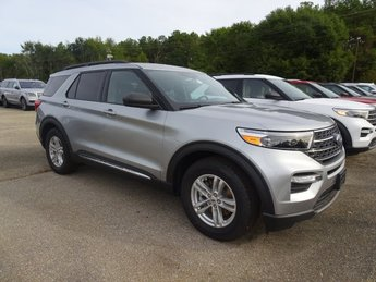 2020 Silver Metallic Ford Explorer XLT Automatic EcoBoost 2.3L I4 GTDi DOHC Turbocharged VCT Engine SUV
