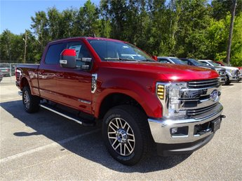 2019 Ruby Red Metallic Tinted Clearcoat Ford Super Duty F-250 SRW Lariat Truck 4 Door 4X4 Automatic Power Stroke 6.7L V8 DI 32V OHV Turbodiesel Engine
