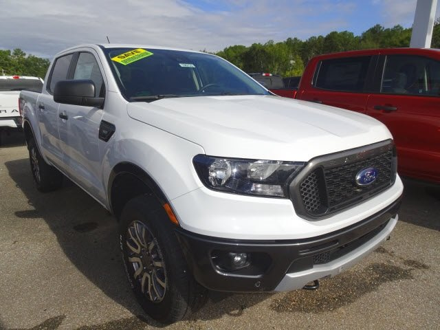 2019 Oxford White Ford Ranger XLT Truck 4 Door 4X4 EcoBoost 2.3L I4 GTDi DOHC Turbocharged VCT Engine Automatic