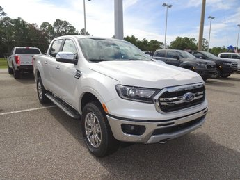 2019 White Platinum Tri-Coat Ford Ranger LARIAT Truck EcoBoost 2.3L I4 GTDi DOHC Turbocharged VCT Engine Automatic 4X4