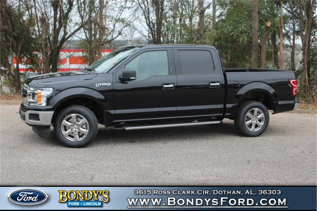 2019 Black Ford F-150 XLT Automatic Truck 5.0L V8 Ti-VCT Engine 4 Door RWD