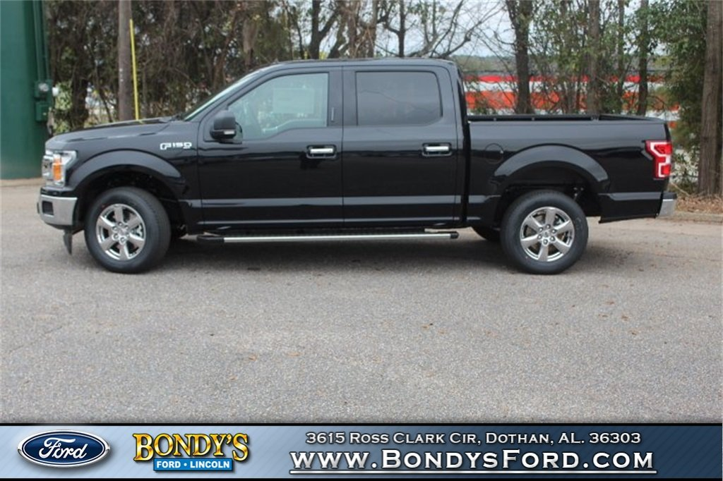 2019 Black Ford F-150 XLT 5.0L V8 Ti-VCT Engine RWD Automatic Truck