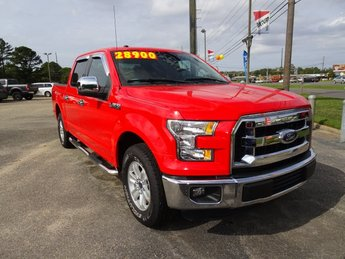 2016 Race Red Ford F-150 XLT 5.0L V8 FFV Engine Automatic 4 Door RWD