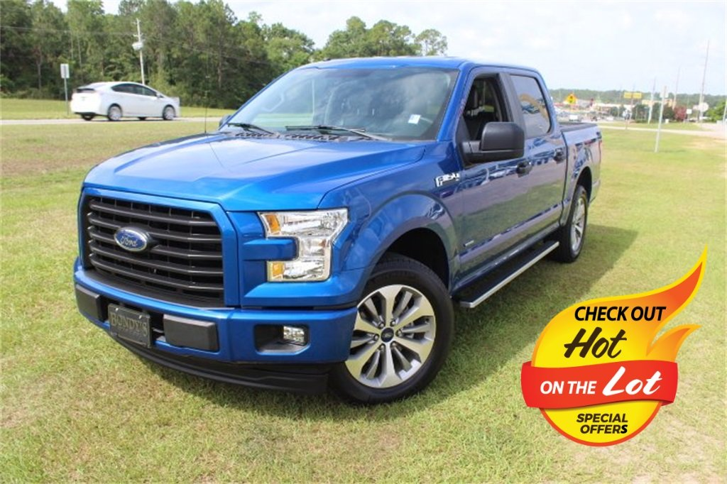 2017 Lightning Blue Ford F-150 XL 4 Door 2.7L V6 EcoBoost Engine Truck Automatic RWD
