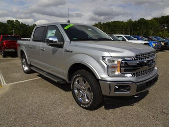 2019 Ingot Silver Metallic Ford F-150 Lariat 4X4 EcoBoost 3.5L V6 GTDi DOHC 24V Twin Turbocharged Engine 4 Door Automatic Truck