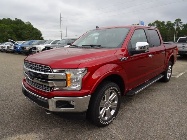 2019 Ruby Red Metallic Tinted Clearcoat Ford F-150 Lariat Automatic 4 Door 5.0L V8 Ti-VCT Engine