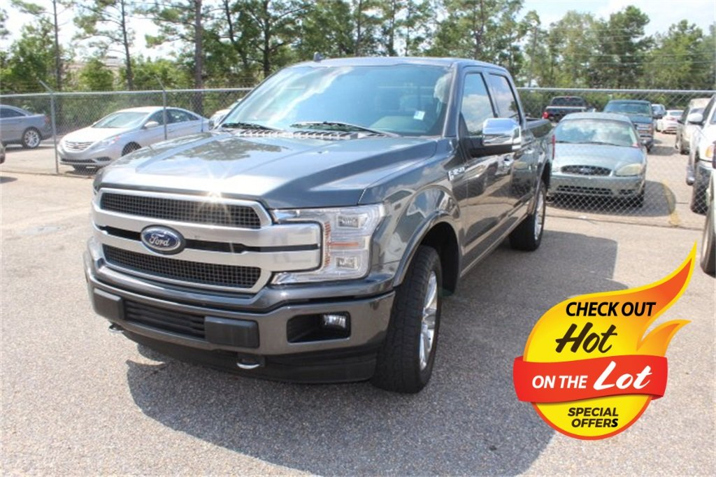 2018 Magnetic Metallic Ford F-150 Platinum Truck 4X4 Automatic 5.0L V8 Engine