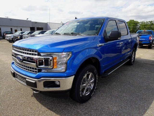 2019 Velocity Blue Metallic Ford F-150 XLT 5.0L V8 Ti-VCT Engine Automatic 4 Door