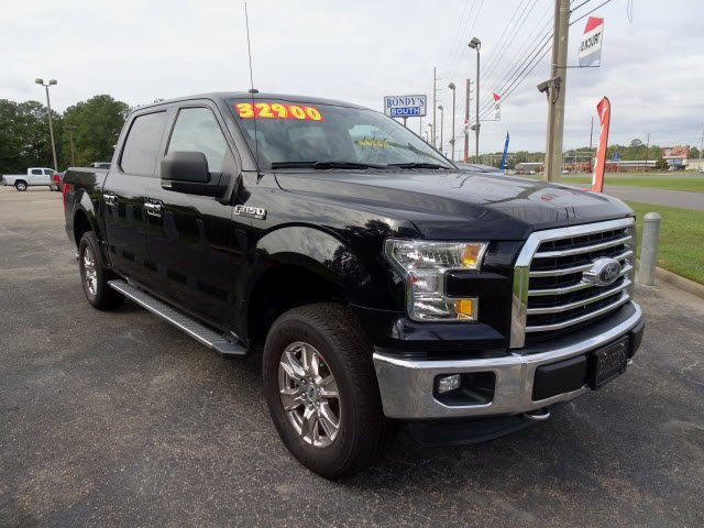 2016 Shadow Black Ford F-150 XLT 4 Door 4X4 5.0L V8 FFV Engine Automatic
