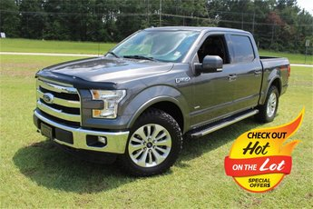 2015 Magnetic Metallic Ford F-150 Lariat 4X4 EcoBoost 3.5L V6 GTDi DOHC 24V Twin Turbocharged Engine Truck Automatic 4 Door