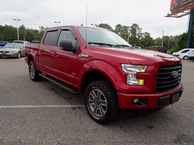 2017 Ruby Red Metallic Tinted Clearcoat Ford F-150 Limited 4X4 Automatic 4 Door EcoBoost 3.5L V6 GTDi DOHC 24V Twin Turbocharged Engine Truck