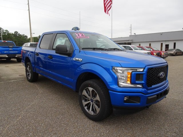 2019 Blue Metallic Ford F-150 XL 4X4 4 Door EcoBoost 2.7L V6 GTDi DOHC 24V Twin Turbocharged Engine Truck