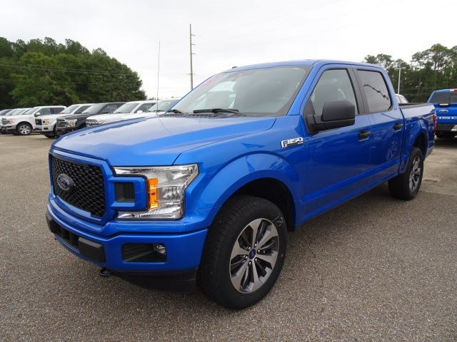 2019 Blue Metallic Ford F-150 XL Automatic 4X4 EcoBoost 2.7L V6 GTDi DOHC 24V Twin Turbocharged Engine Truck 4 Door