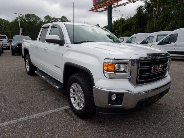 2015 Summit White GMC Sierra 1500 SLE V8 Engine Automatic Truck