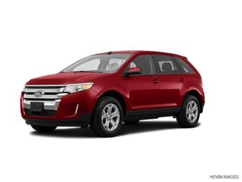 2014 Ruby Red Metallic Ford Edge SEL SUV Automatic 3.5L V6 Ti-VCT Engine 4 Door FWD
