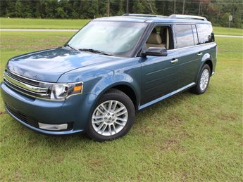 2019 Blue Metallic Ford Flex SEL FWD SUV 3.5L V6 Ti-VCT Engine