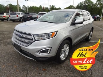 2016 Ingot Silver Metallic Ford Edge SEL 3.5L V6 Ti-VCT Engine Automatic FWD 4 Door