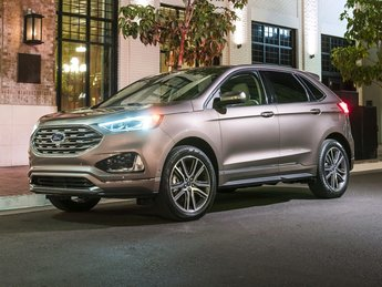 2020 Burgundy Ford Edge SEL FWD 4 Door SUV EcoBoost 2.0L I4 GTDi DOHC Turbocharged VCT Engine Automatic