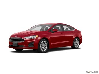 2019 Ruby Red Metallic Ford Fusion SE Automatic Sedan FWD 4 Door EcoBoost 1.5L I4 GTDi DOHC Turbocharged VCT Engine