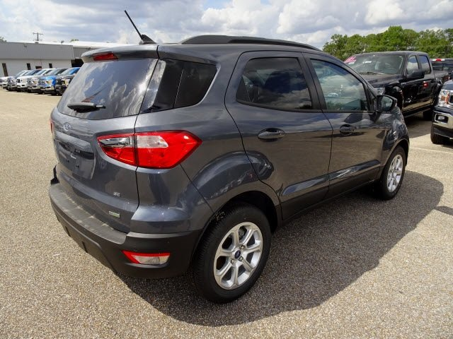 2019 Smoke Metallic Ford EcoSport SE Automatic EcoBoost 1.0L I3 GTDi DOHC Turbocharged VCT Engine 4 Door SUV