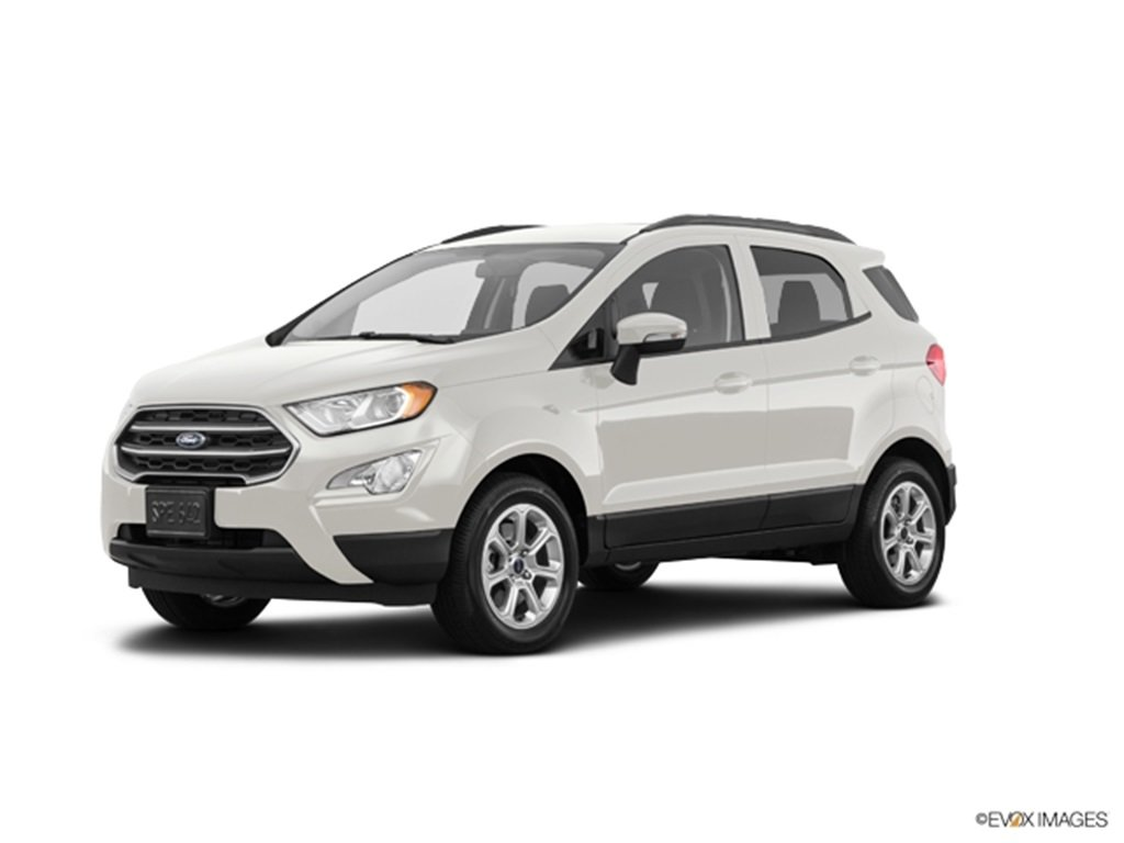 2019 Diamond White Ford EcoSport SE EcoBoost 1.0L I3 GTDi DOHC Turbocharged VCT Engine SUV Automatic 4 Door FWD