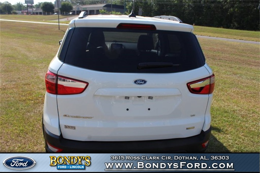 2019 Diamond White Ford EcoSport SE 4 Door SUV Automatic FWD EcoBoost 1.0L I3 GTDi DOHC Turbocharged VCT Engine