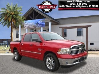 2016 Flame Red Clearcoat Ram 1500 Big Horn Automatic EcoDiesel 3.0L V6 Engine Truck 4 Door RWD