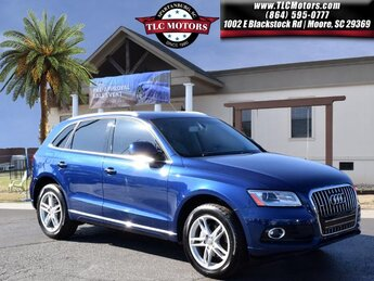 2016 Blue Audi Q5 Premium AWD Automatic 4 Door 2.0L 4-Cylinder TFSI Engine