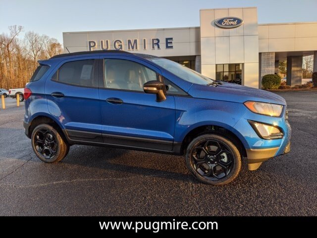 2021 Lightning Blue Metallic Ford EcoSport SES 4WD SUV 4 Door 2.0L 4-Cyl Engine AWD Automatic