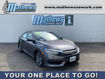 2018 Gray Honda Civic Sedan EX Automatic (CVT) 2.0 L 4-Cylinder Engine 4 Door