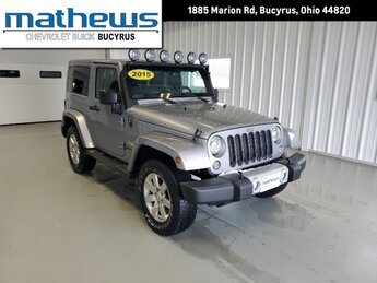 2015 Billet Silver Metallic Clearcoat Jeep Wrangler Sahara Automatic 4X4 2 Door