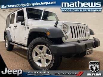 2014 Bright White Clearcoat Jeep Wrangler Sport SUV Automatic 4 Door