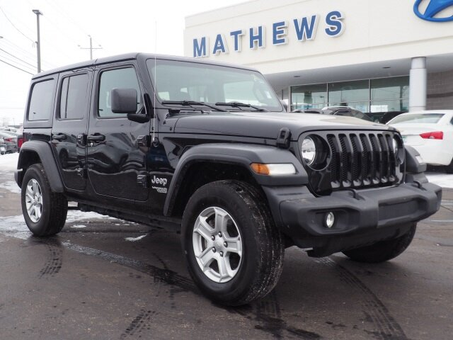 2019 Black Clearcoat Jeep Wrangler Sport S 4X4 SUV 4 Door 2.0L I4 DOHC Engine Automatic