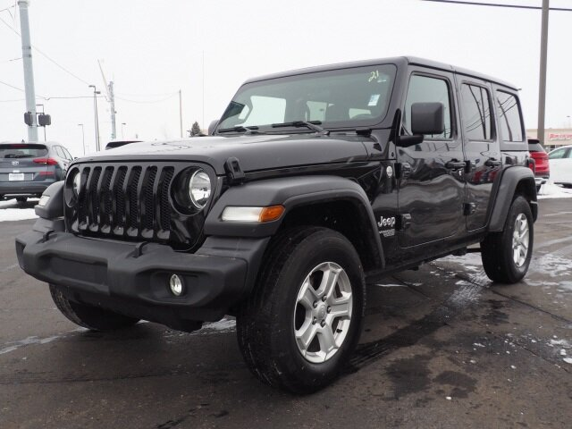 2019 Black Clearcoat Jeep Wrangler Sport S Automatic 2.0L I4 DOHC Engine 4X4 SUV 4 Door