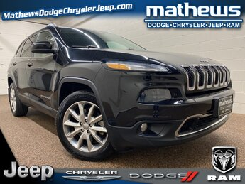 2014 Brilliant Black Crystal Pearlcoat Jeep Cherokee Limited SUV 4 Door 2.4L I4 MultiAir Engine