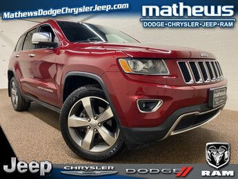 2015 Deep Cherry Red Crystal Pearlcoat Jeep Grand Cherokee Limited 4X4 Automatic SUV 3.6L V6 24V VVT Engine 4 Door