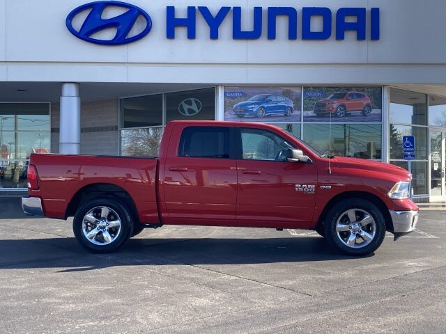 2019 Flame Red Clearcoat Ram 1500 Classic Big Horn HEMI 5.7L V8 Multi Displacement VVT Engine 4X4 Truck Automatic 4 Door