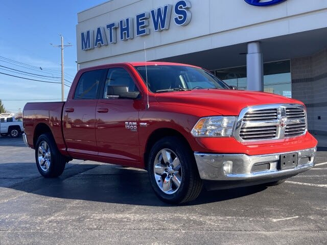 2019 Flame Red Clearcoat Ram 1500 Classic Big Horn 4 Door Automatic 4X4 HEMI 5.7L V8 Multi Displacement VVT Engine Truck