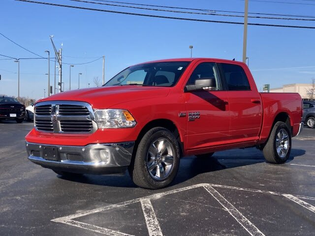 2019 Flame Red Clearcoat Ram 1500 Classic Big Horn Automatic HEMI 5.7L V8 Multi Displacement VVT Engine 4 Door Truck 4X4