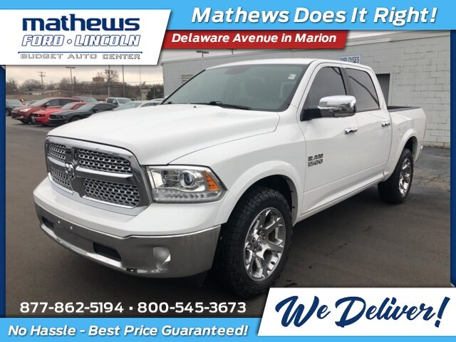 2016 Bright White Clearcoat Ram 1500 Laramie 3.6L V6 24V VVT Engine Truck Automatic 4X4 4 Door