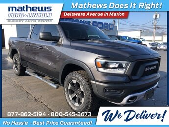 2019 Ram 1500 Rebel Truck Automatic 3.6L V6 24V VVT Engine 4X4