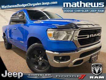 2020 Hydro Blue Pearlcoat Ram 1500 Big Horn 3.6L V6 24V VVT Engine 4X4 Truck Automatic 4 Door