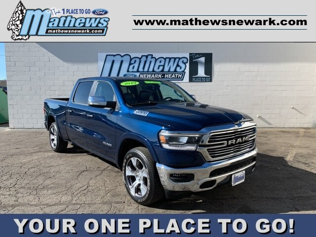 2019 Patriot Blue Pearlcoat Ram 1500 Laramie Automatic 4X4 4 Door Truck 5.7 L 8-Cylinder Engine