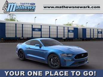 2020 Velocity Blue Metallic Ford Mustang GT Automatic 5.0 L 8-Cylinder Engine Car
